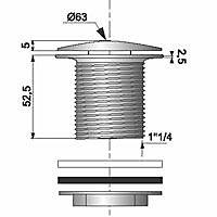 Bonde automatique Quick-Clac laiton chromé Diall