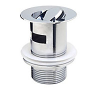 Bonde à clapet rotatif laiton chromé Diall