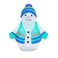 Bonhomme de neige LED musical 40 cm