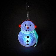 Bonhomme de neige lumineux LED 10 cm