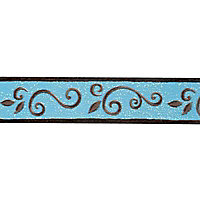 Bordure adhésive Montecolino Arabesque turquoise