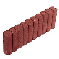 Bordure colonade droite rouge 50 x 20 cm, ép.6,5 cm