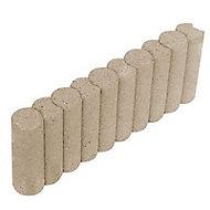 Bordure colonnade droite ton pierre 50 x 20 cm, ép.6,5 cm