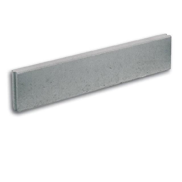 bordure droite en beton grise 100 x 20 x 6 cm