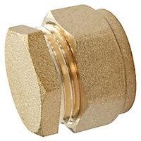 Bouchon bicône à bague laiton pour tube cuivre Ø16