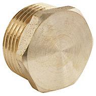 """Bouchon laiton Mâle 15/21 (1/2""""), lot de 2"""