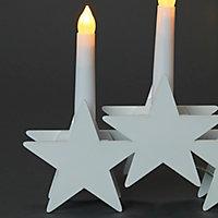 Bougeoir 5 étoile blanc