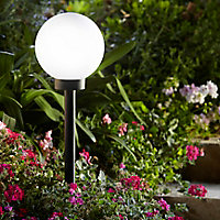 Boule solaire Blooma Kimberley noir Ø20 cm IP44