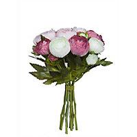 Bouquet de Renoncule rose artificiel ø19 x 22 cm