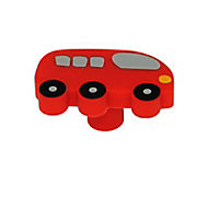 Bouton bus silicone rouge Ø50mm
