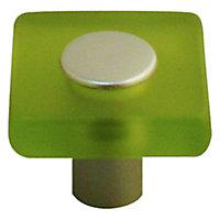 Bouton de meuble acrylique Colours Minéo chlorophylle Ø30 mm
