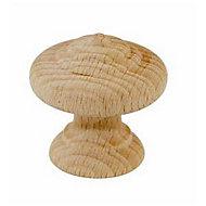 Bouton de meuble bois brut Colours Rellus Ø35 mm