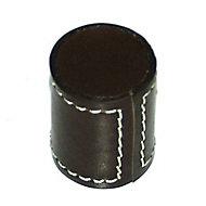 Bouton de meuble cuir COLOURS Sellier marron
