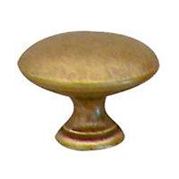 Bouton de meuble laiton Colours Convexe doré vieilli Ø30 mm
