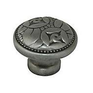 Bouton de meuble métal Colours Angelo gris fer Ø30 mm