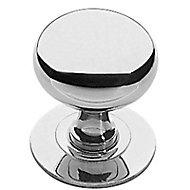 Bouton de meuble métal COLOURS Anglais chromé brillant Ø33 mm