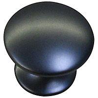 Bouton de meuble métal Colours Divine noir satiné Ø30 mm
