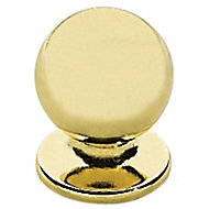 Bouton de meuble métal COLOURS Mancy doré brillant Ø25 mm
