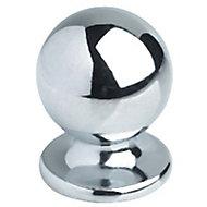 Bouton de meuble métal COLOURS Nagae chromé brillant Ø20 mm