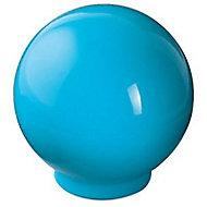 Bouton de meuble plastique COLOURS Flashy bleu atoll ø30 mm