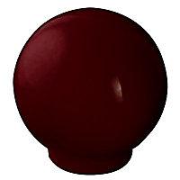 Bouton de meuble plastique Colours Flashy marron Ø30 mm