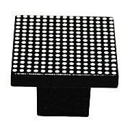 Bouton de meuble plastique COLOURS Vito noir/blanc Ø31 mm