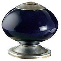 Bouton de meuble porcelaine COLOURS Jadis bleu delft