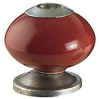 Bouton de meuble porcelaine Colours Jadis piment