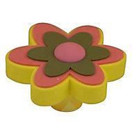 Bouton de meuble PVC COLOURS Boline vert et rose