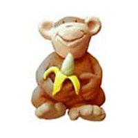 Bouton de meuble résine COLOURS Safari singe marron