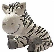 Bouton de meuble résine Colours Safari zèbre blanc