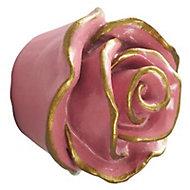 Bouton de meuble résine COLOURS Victoria rose