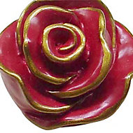 Bouton de meuble résine Colours Victoria rouge