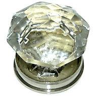 Bouton de meuble verre Colours Diamant transparent Brilliant Ø35 mm