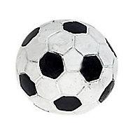 Bouton football en résine noir/blanc