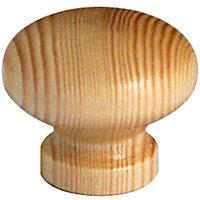 Bouton meuble pin verni Caridi Ø30 mm
