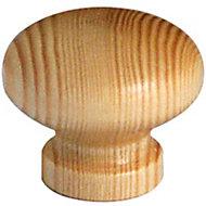 Bouton meuble pin verni Caridi Ø40 mm