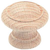 Bouton meuble régence bois brut Laris Ø40mm