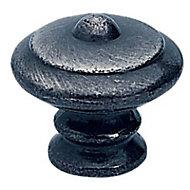 Bouton meuble rustique métal vieilli Ø30mm
