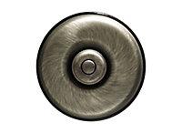 Bouton Poussoir Fontini Dimbler Porcelaine noire, coque bronze