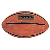 Bouton rugby en résine marron