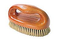 Brosse à poignée garnissage en acier laitonné