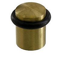 Butoir de porte DIALL inox doré Ø2 cm