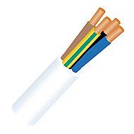 Câble 4X1,5 mm² H05VVF blanc à la coupe