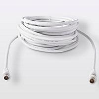 Câble coaxial Mâle / Mâle + adaptateur Mâle / Mâle Blyss, 10 m