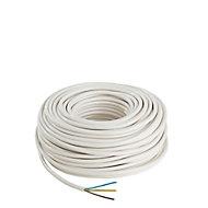 Câble électrique 3x1,5 mm² Nexans blanc - 50 m