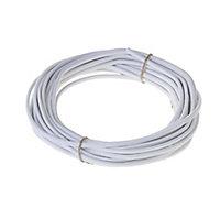 Câble électrique flexible H03VVH2F 2x0,75mm² Blanc - 25m