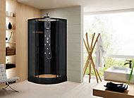 Cabine de douche Black Bamboo 90 x 90 cm
