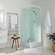 Cabine de douche blanche Arkell 80 x 80 cm