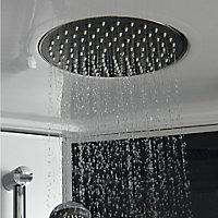 Cabine de douche hydromassante circulaire chromé GoodHome Onega 90 x 90 cm